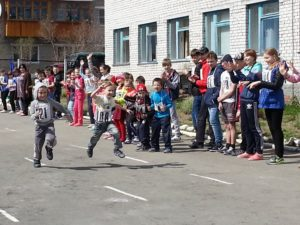 Соревнования по легкой атлетике в поселке Белокаменный