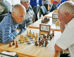 Соревнования по шахматам среди старшего поколения