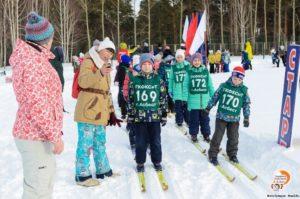 Соревнования по лыжным гонкам среди дошкольных образовательных организаций